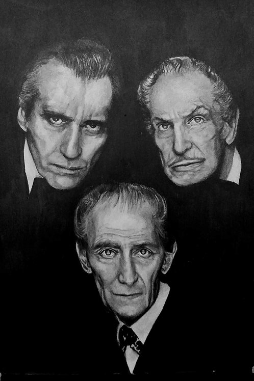 Christopher Lee, Vincent Price & Peter Cushing
