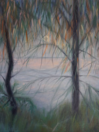 #4 Available: Moonrise through the Sheoaks.