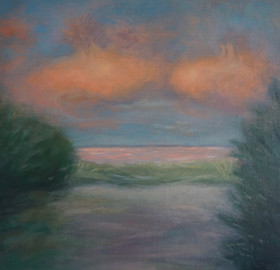 Available #3 Study for Pink Cloud Sky