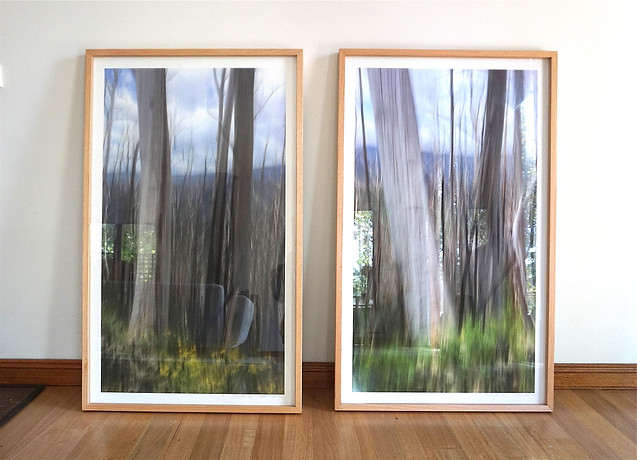 Remnants IV, $485 (right), available. Each 117cm x 70cm.