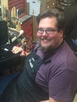 Horn repair tech, Alex