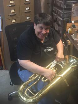 Horn Repair Tech, Karen