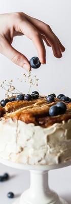 torta di mirtilli
