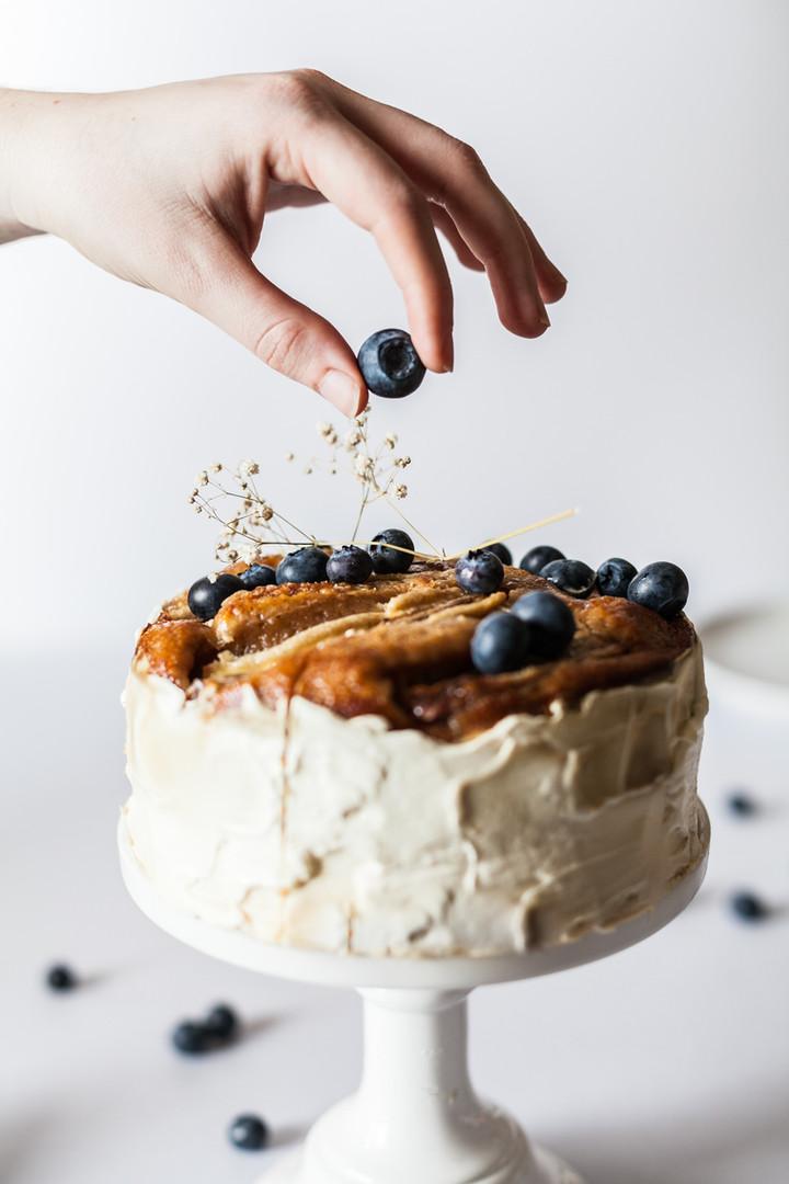 Cake van de bosbes