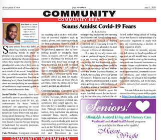 Screen Shot Scams Amidst Covid-19 fears.