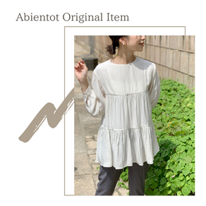 Abientot original item! パールボタンティアードブラウス
