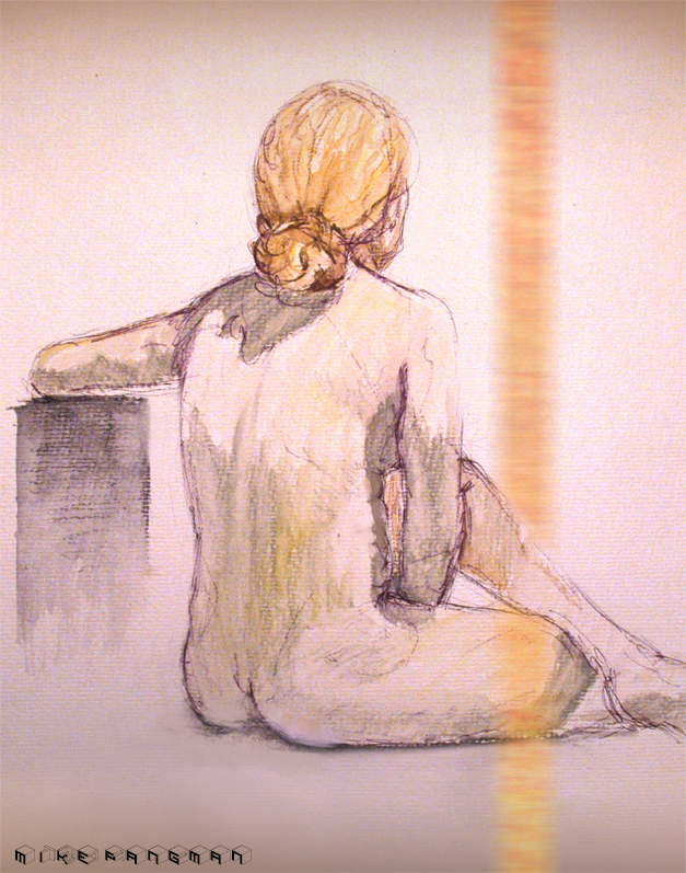 figure study - water color