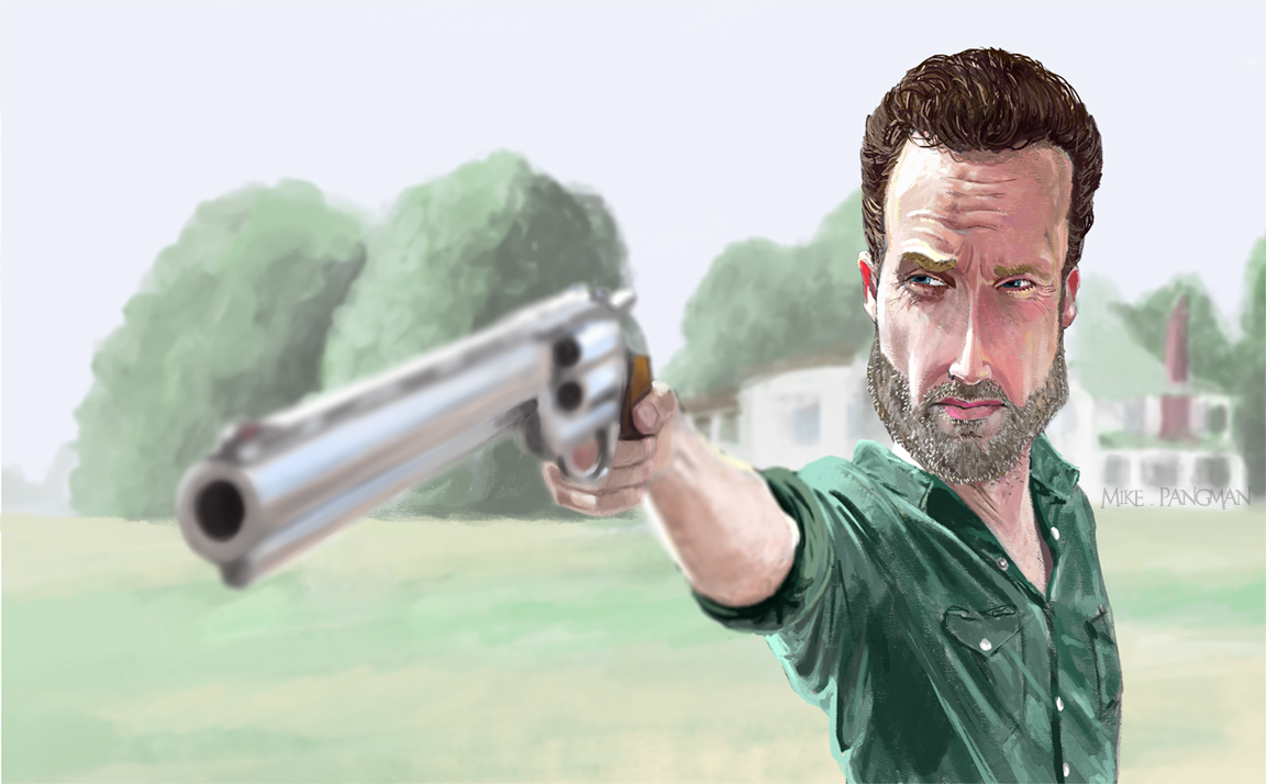 the walking dead Rick caricature
