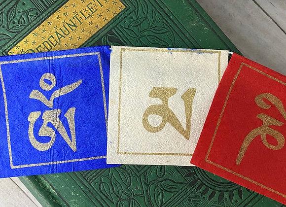 Tibetan Prayer Flag Handpainted