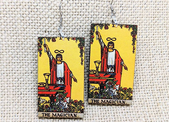 The Magician Tarot Card Earrings