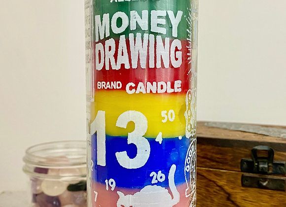 Money Drawing 7 Color - 7 Day Candle