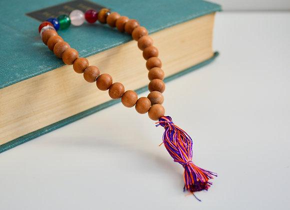 Sandalwood Chakra Bead Bracelet