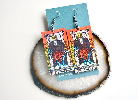The Emperor Tarot Card Earrings