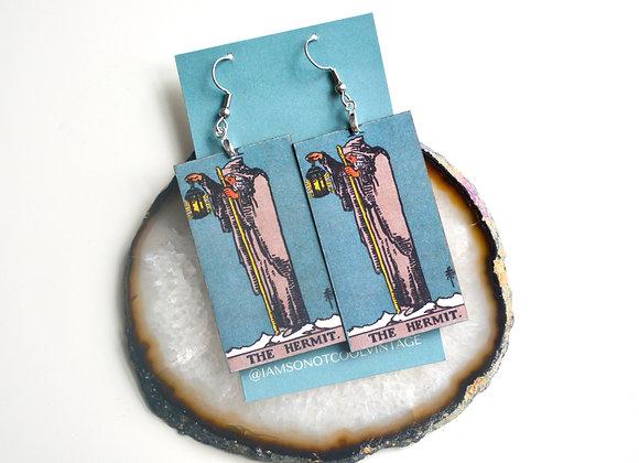The Hermit Tarot Card Earrings
