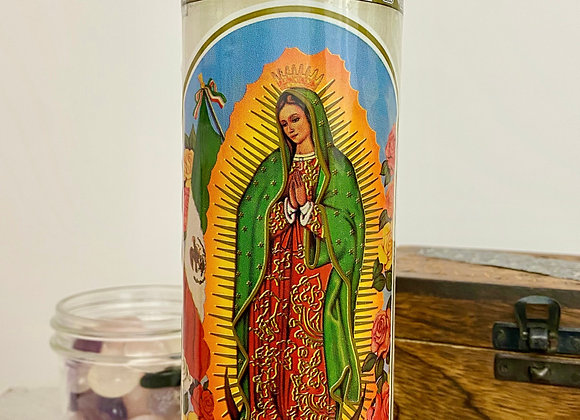 7 Day Religious + Saint Candle - Our Lady of Guadalupe