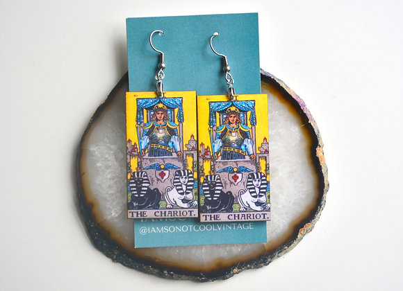 The Chariot Tarot Card Earrings
