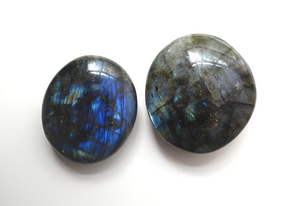 Labradorite Large Round Palm Stone