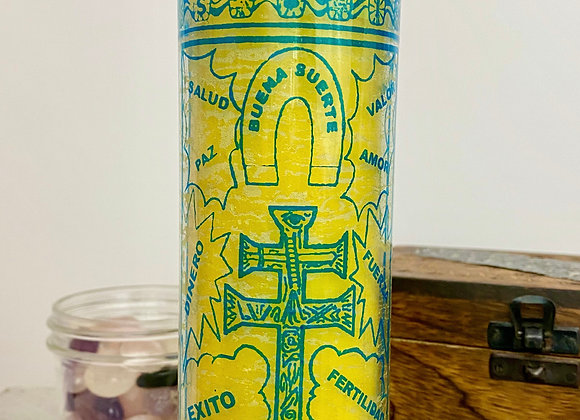 7 Day Religious Candle - Cross of Caravaca