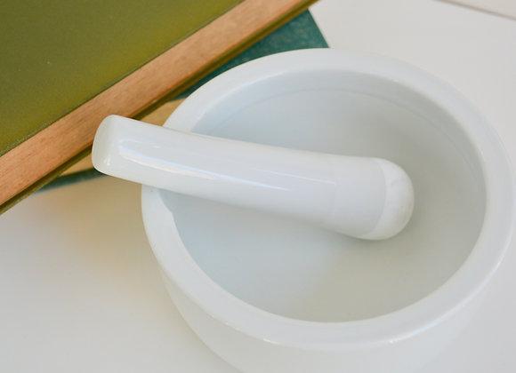White Porcelain - Mortar + Pestle (Medium)