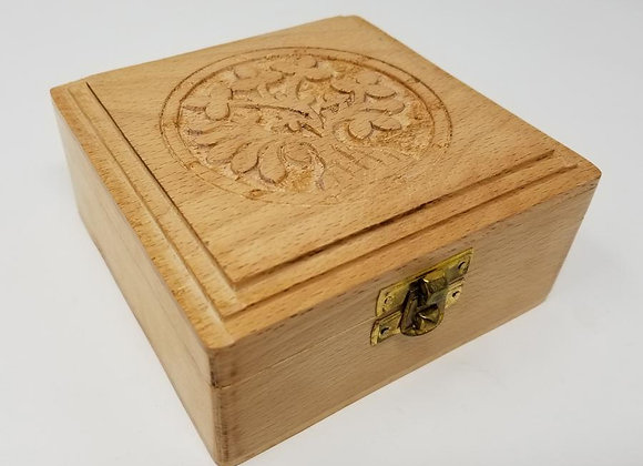 Tree of Life Carved Wood Box