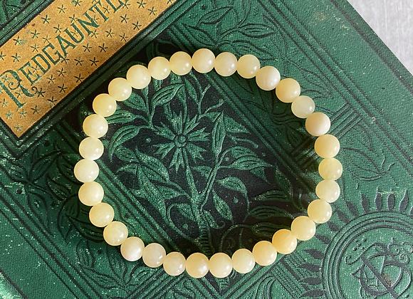 Yellow Honey Calcite Stretch Bead Bracelet