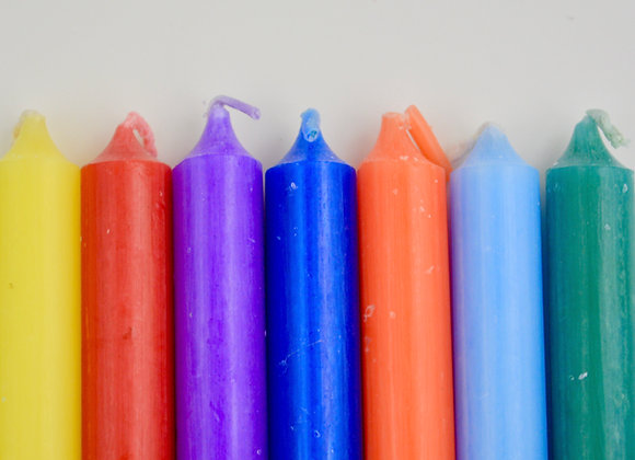 "Stick Candles 4"" - Variety of Colors"