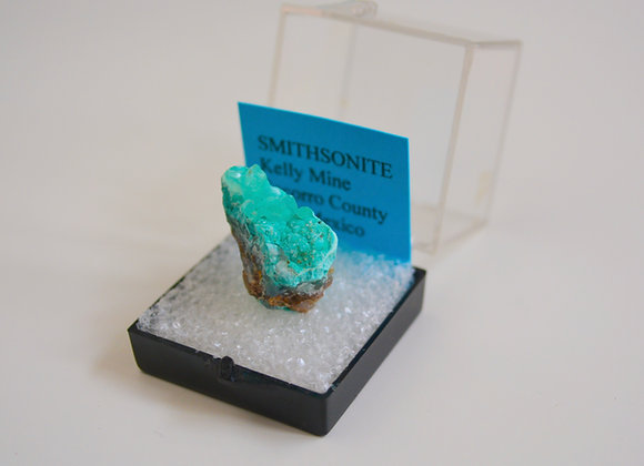 Smithsonite Raw Specimen - Mounted in Case