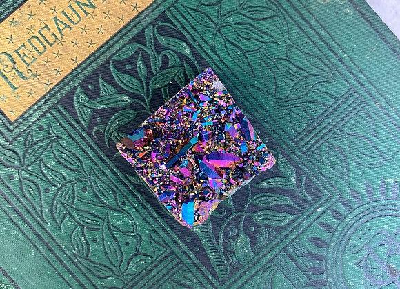 Rainbow Titanium Aura Quartz - Raw Cluster