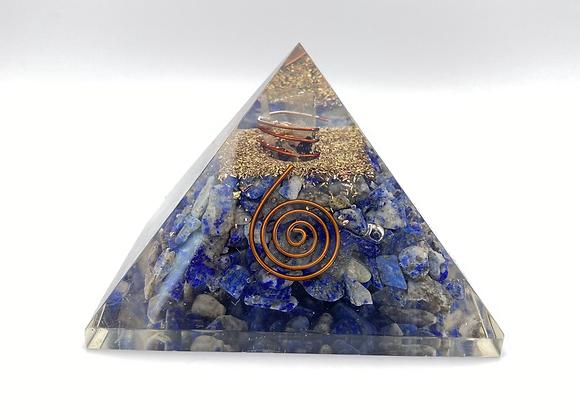Lapis Lazuli + Copper Orgone Pyramid