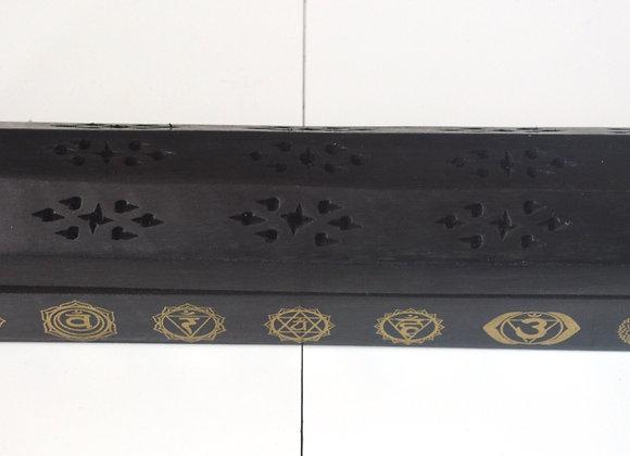 7 Chakra Coffin Wooden Incense Box Burner