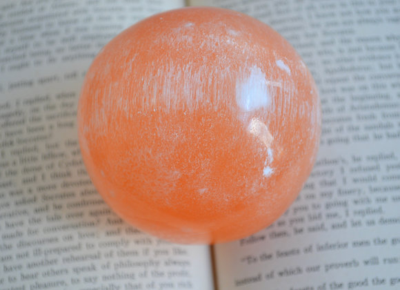 Orange Selenite - Crystal Ball (Peach Selenite)