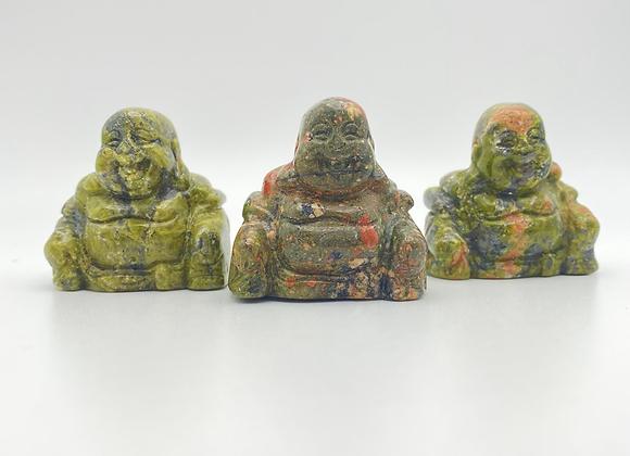 Unakite Buddha Carving