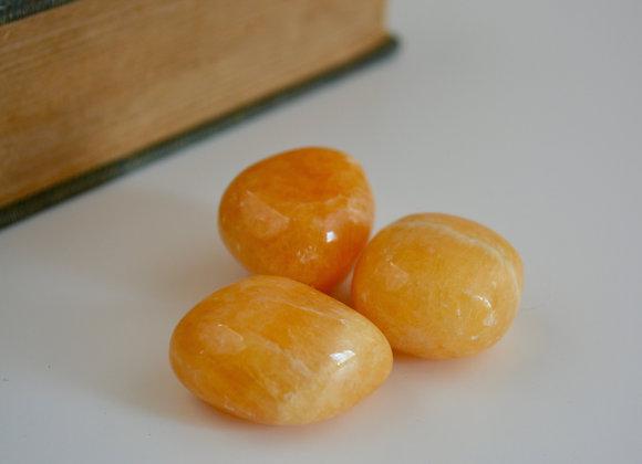 Orange Calcite - Tumbled Stone