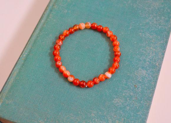 Carnelian Stretch Bead Bracelet