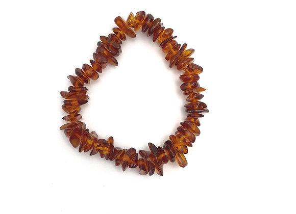 Amber Chip Stretch Bracelet