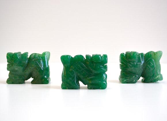 Green Aventurine - Dragon Carving