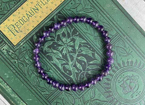 Amethyst Stretch Bead Bracelet