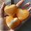 Thumbnail: Pumpkin Orange Calcite - Heart Carving