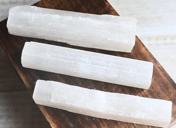 Selenite Stick 4 inch - Raw Mineral (Satin Spar)