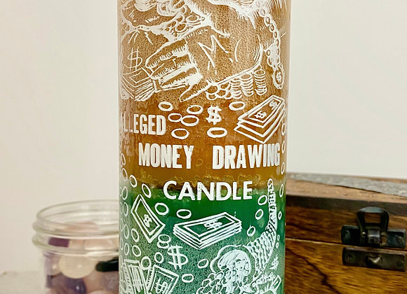 Money Drawing - 2 Color, 7 Day Candle