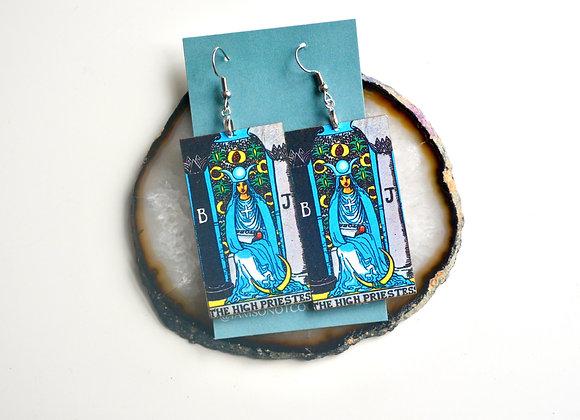 High Priestess Tarot Card Earrings
