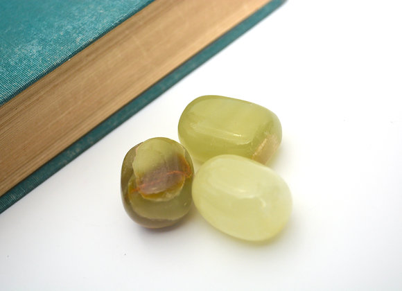 Green Calcite - Tumbled Stone
