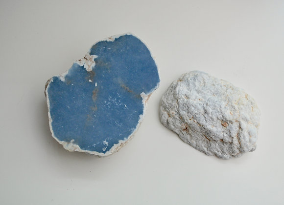 Angelite Half Polished | Half Raw Stone