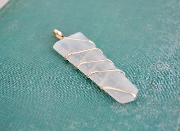 Selenite Pendant | Wire Wrapped
