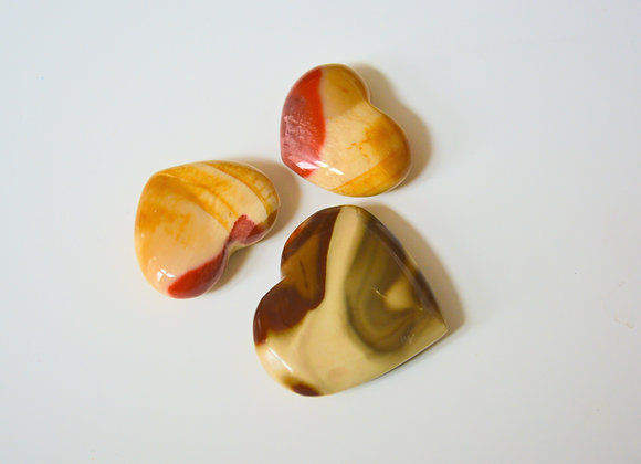 Mookaite Jasper - Crystal Heart