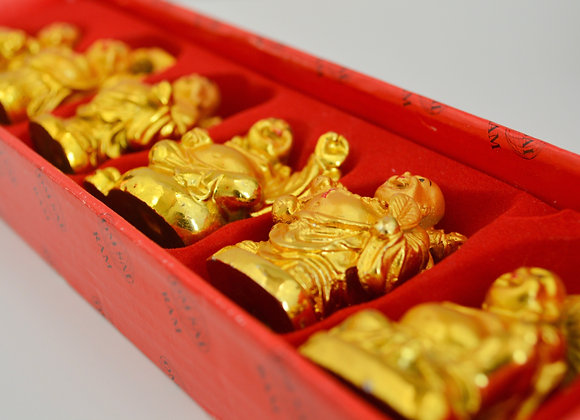 Gold Buddhas Statues 6 Pack