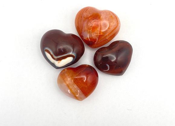 Carnelian - Polished Heart Mini