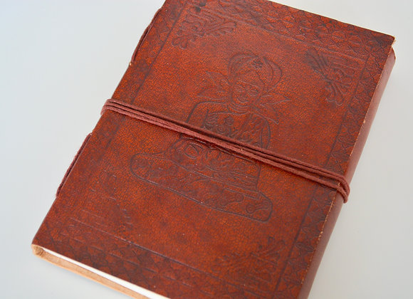 "Buddha Leather Journal 5x7"" with Cord Closure"