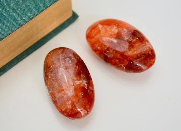 Hematoid Quartz - Palm Stone