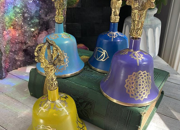 Tibetan Singing Bell | Blue, Violet, Yellow or Sea Blue | Sound Healing | Chakra